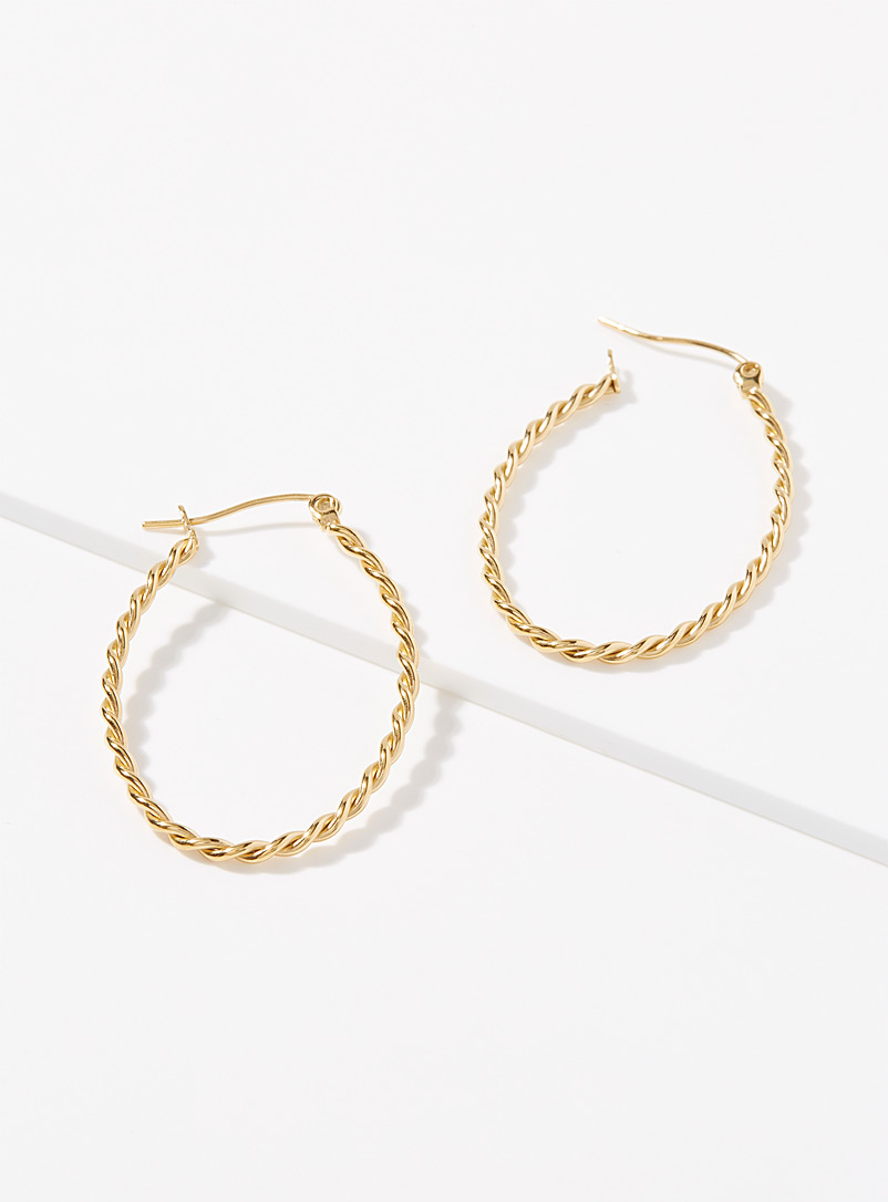 Simons Assorted Grooved oval hoops for women