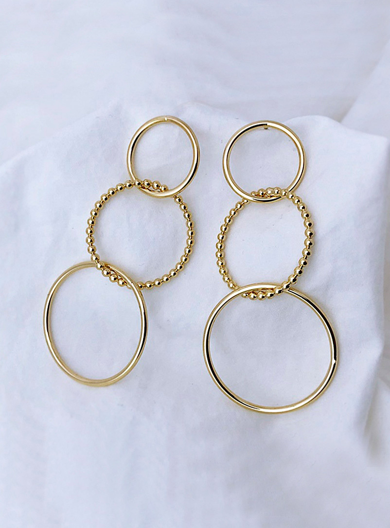 Simons Assorted Circle trio earrings for women