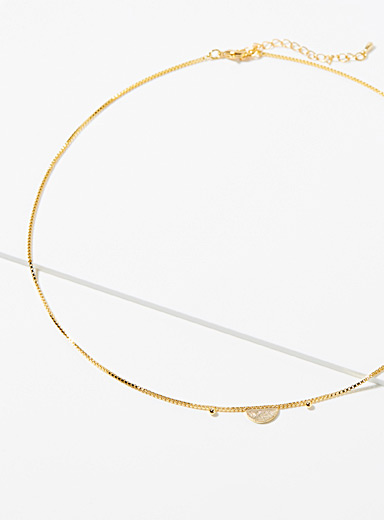 Simons Assorted Half-moon chain necklace for women