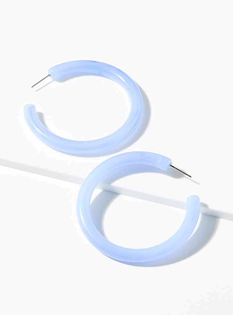 Simons Baby Blue Blue tube hoops for women