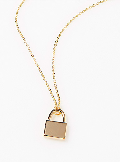 Mini-lock necklace