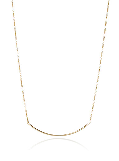 Metallic arc necklace