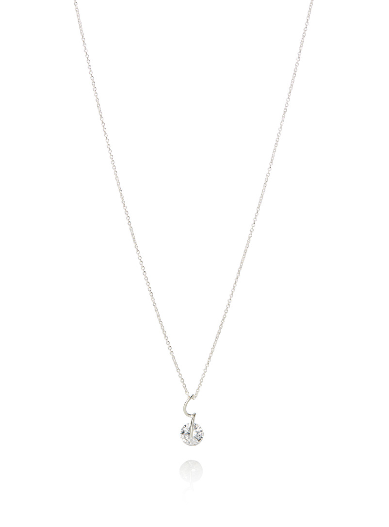 Simons Silver Dazzling pendant necklace for women