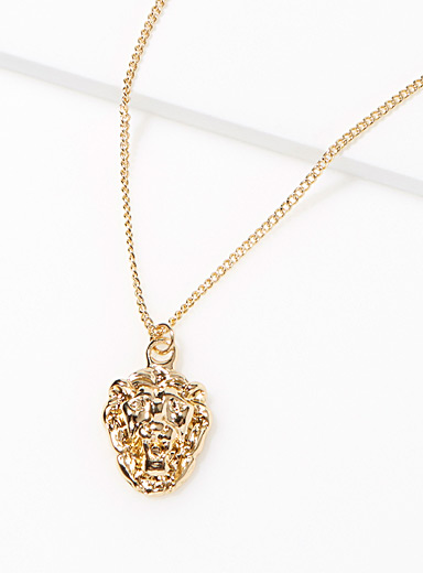 Lion's head necklace