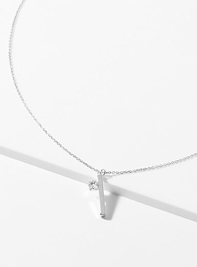 Crystal ingot necklace