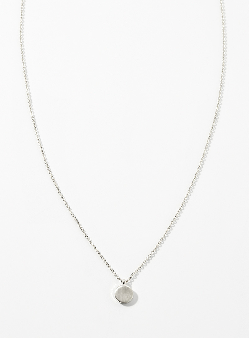 Simons Silver Minimalist pendant necklace for women