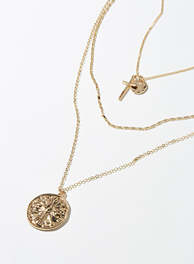 Royal coin multi-chain necklace