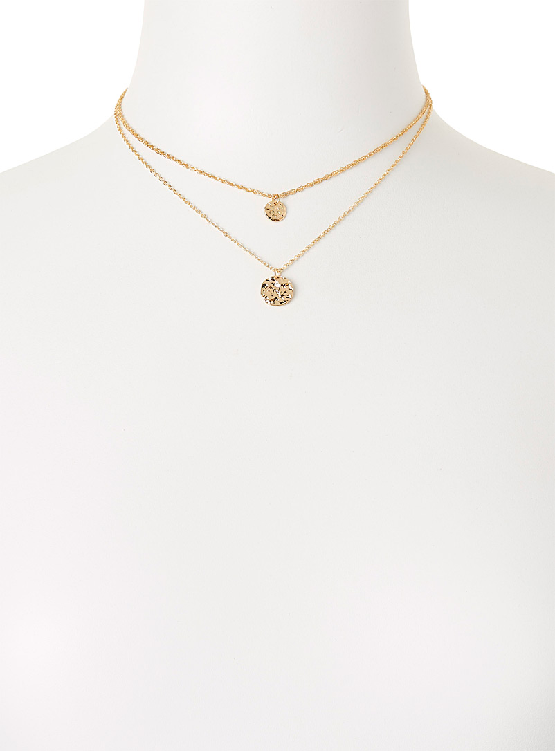 Simons Assorted Hammered multi-strand necklace for women