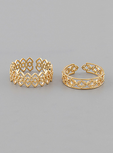 Openwork rings  Set of 2
