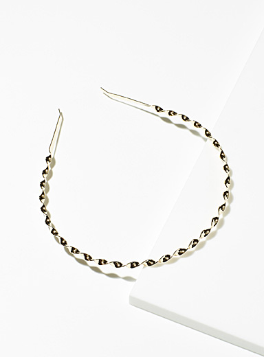 Simons Assorted  Twisted metallic headband for women