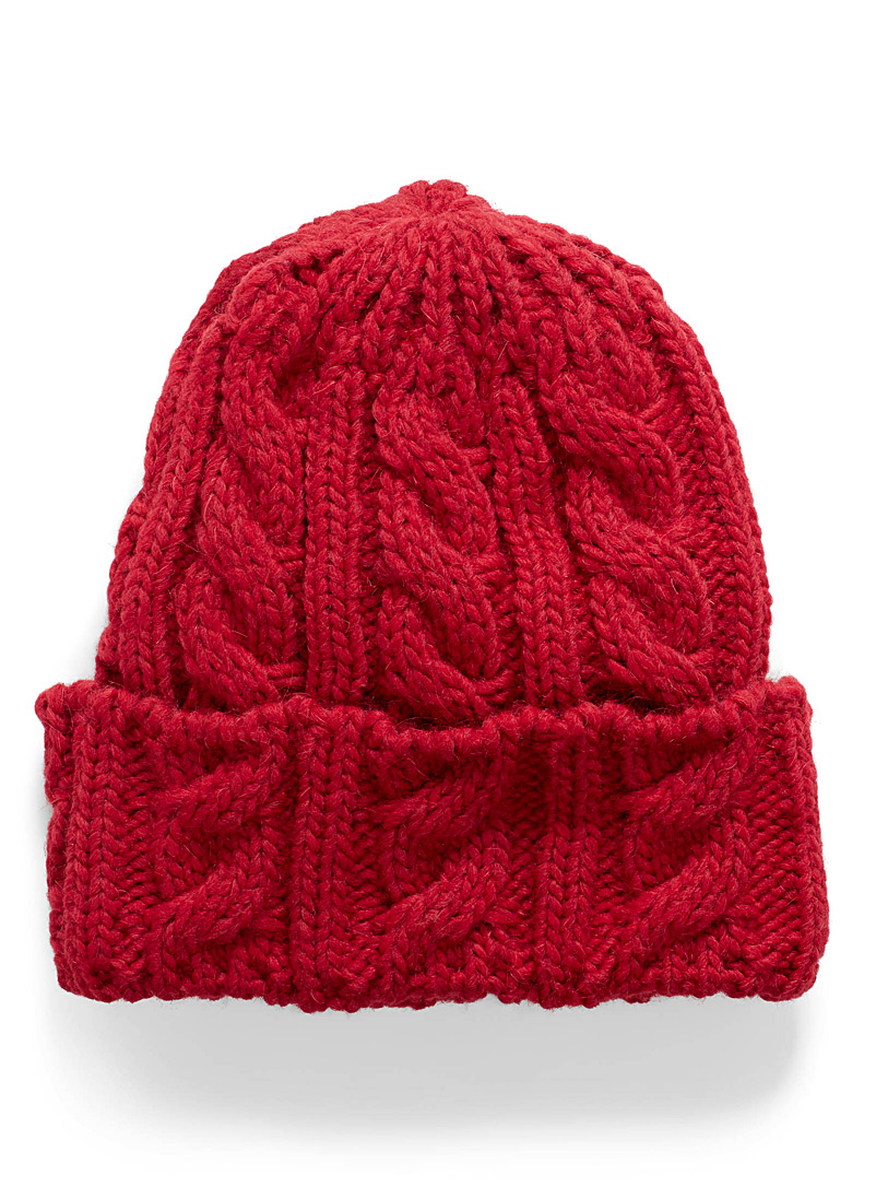 Twisted cable tuque - Tuques - Red