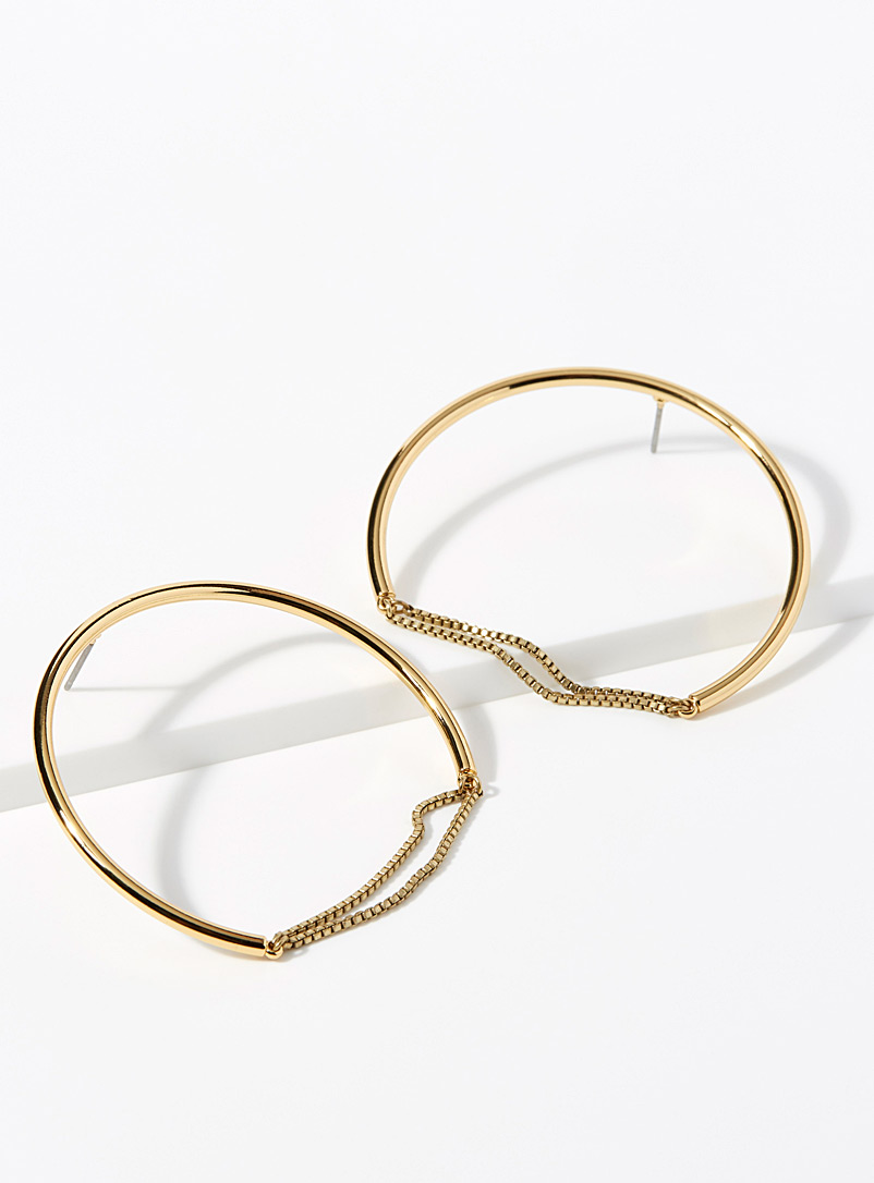 Sadie hoops - Earrings - Golden Yellow