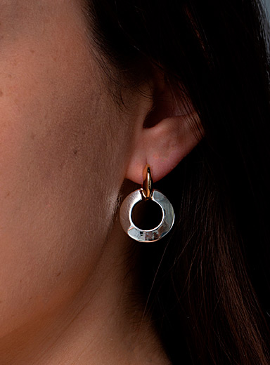 Toni two-tone knocker earrings