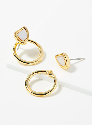 Jenny Bird Assorted gold Cala hoops for women