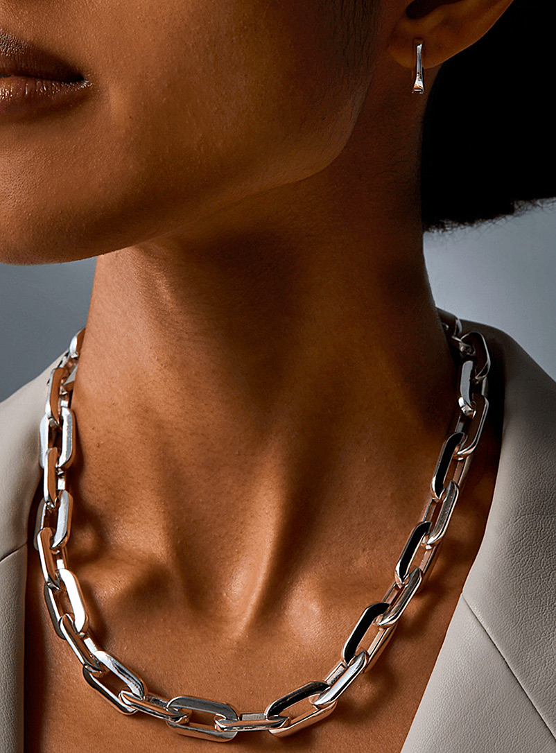 Jenny Bird Silver Toni chain necklace for women