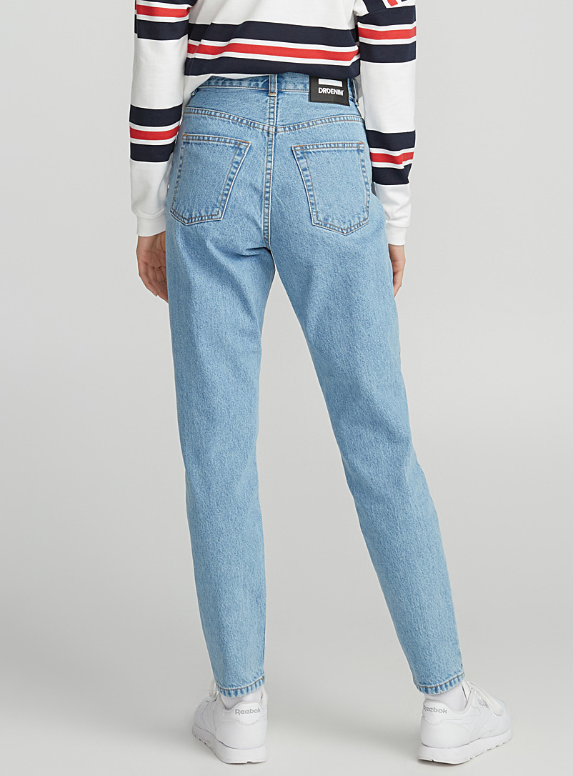 Dr Denim Baby Blue Nora mom jean for women