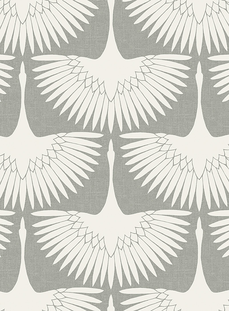 Turquoise Palace + Tempaper Assorted beige Feather flock self-adhesive wallpaper 56 square feet