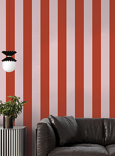 Candy stripe self-adhesive wallpaper 28 square feet