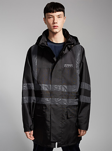Reflective detail loose-fit coat