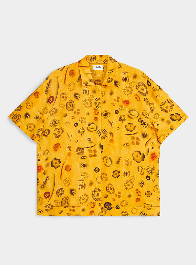 Vejas Golden Yellow Evolved leopard shirt for women
