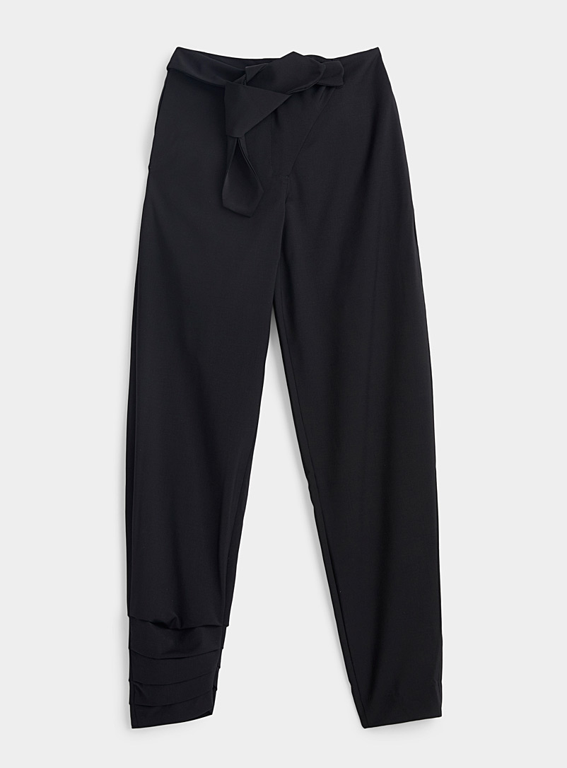 Vejas Black Razored pant for women