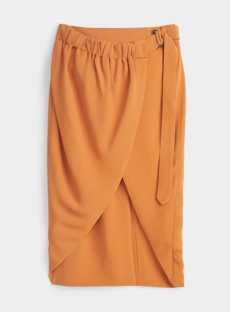 Vejas Orange Razored mini skirt for women
