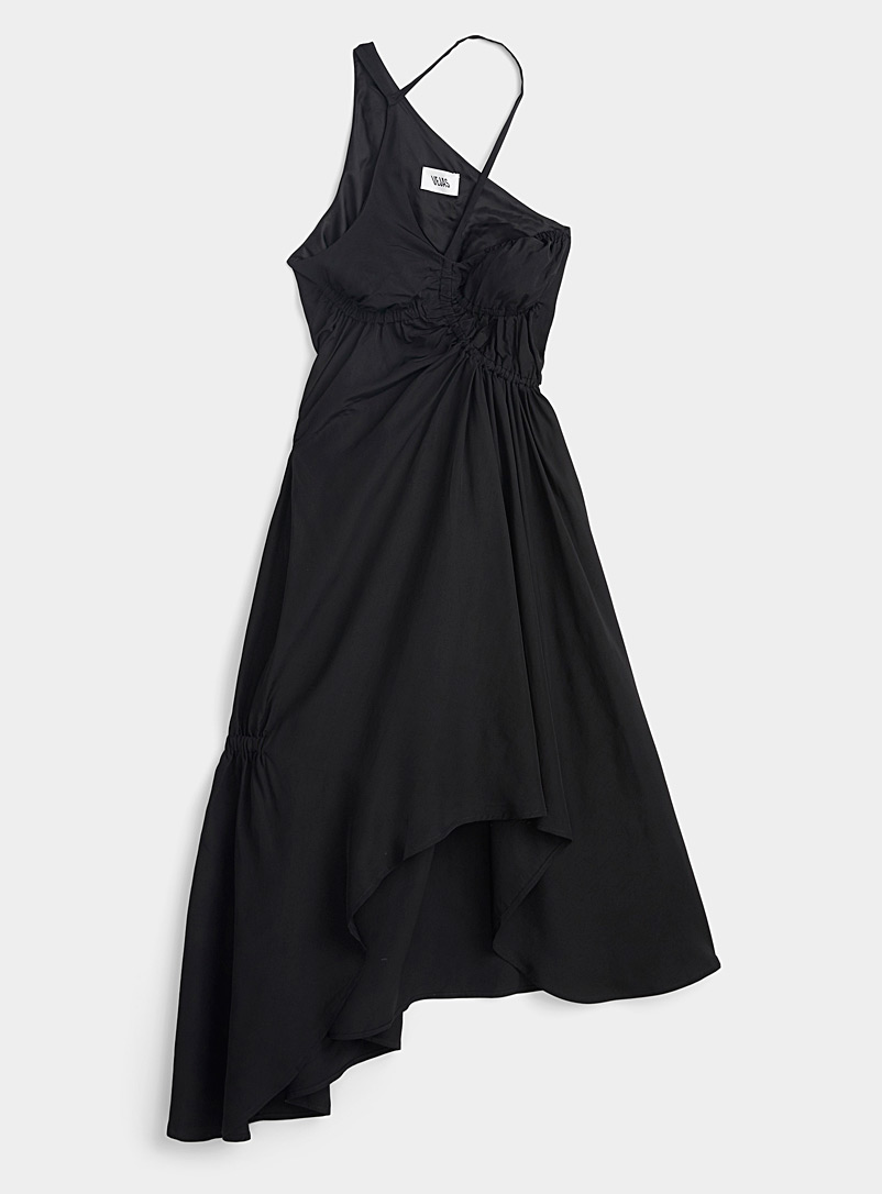 Vejas Black Liquid silky dress for women