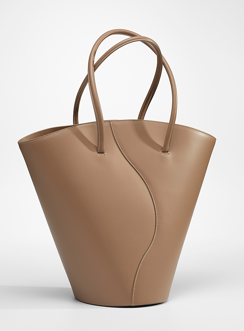 Little Liffner Light Brown Curve tote for women