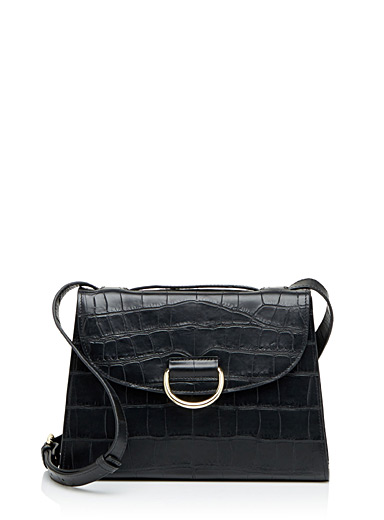 Lady D Black Croc bag