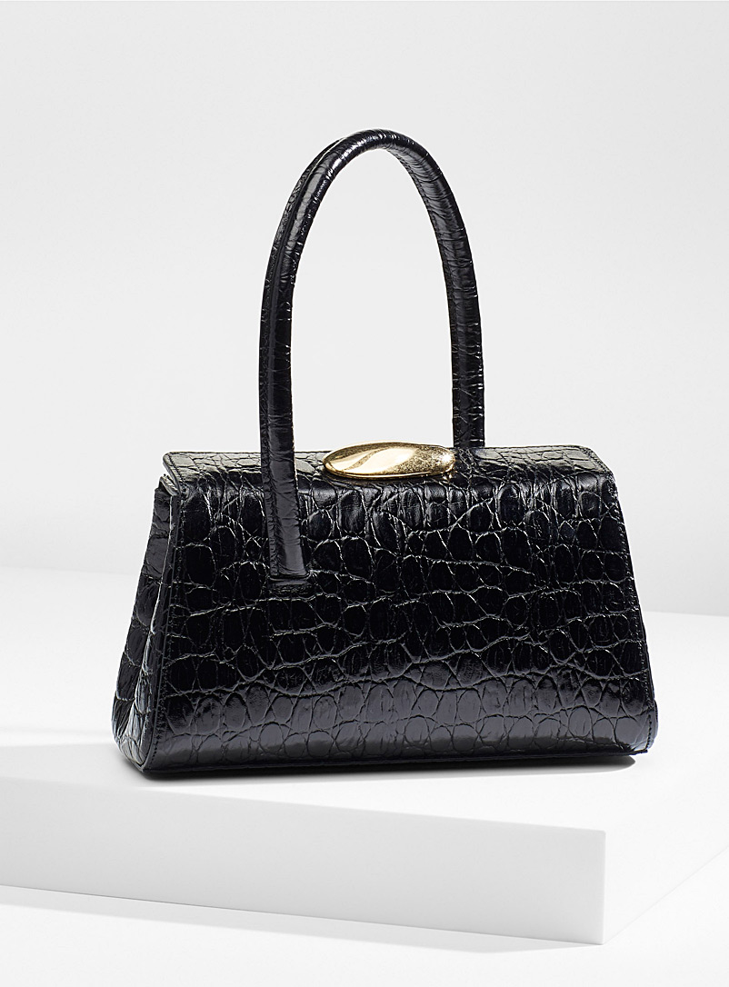 Little Liffner Black Baby Boss faux-croc bag for women
