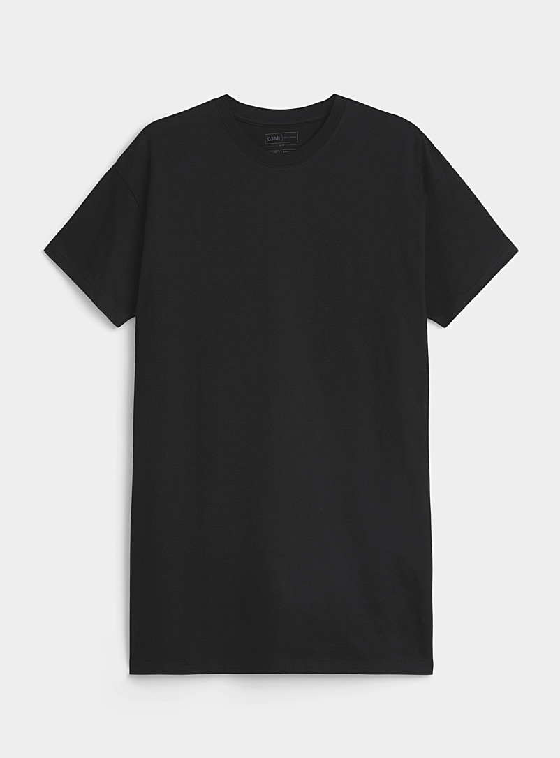 Djab Black Essential organic cotton T-shirt for men