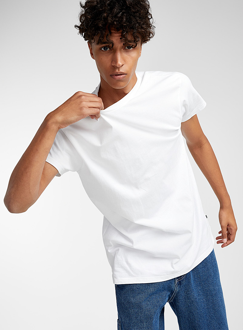 Djab White Essential organic cotton T-shirt for men