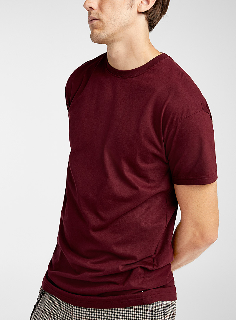 Muscle fit longline T-shirt