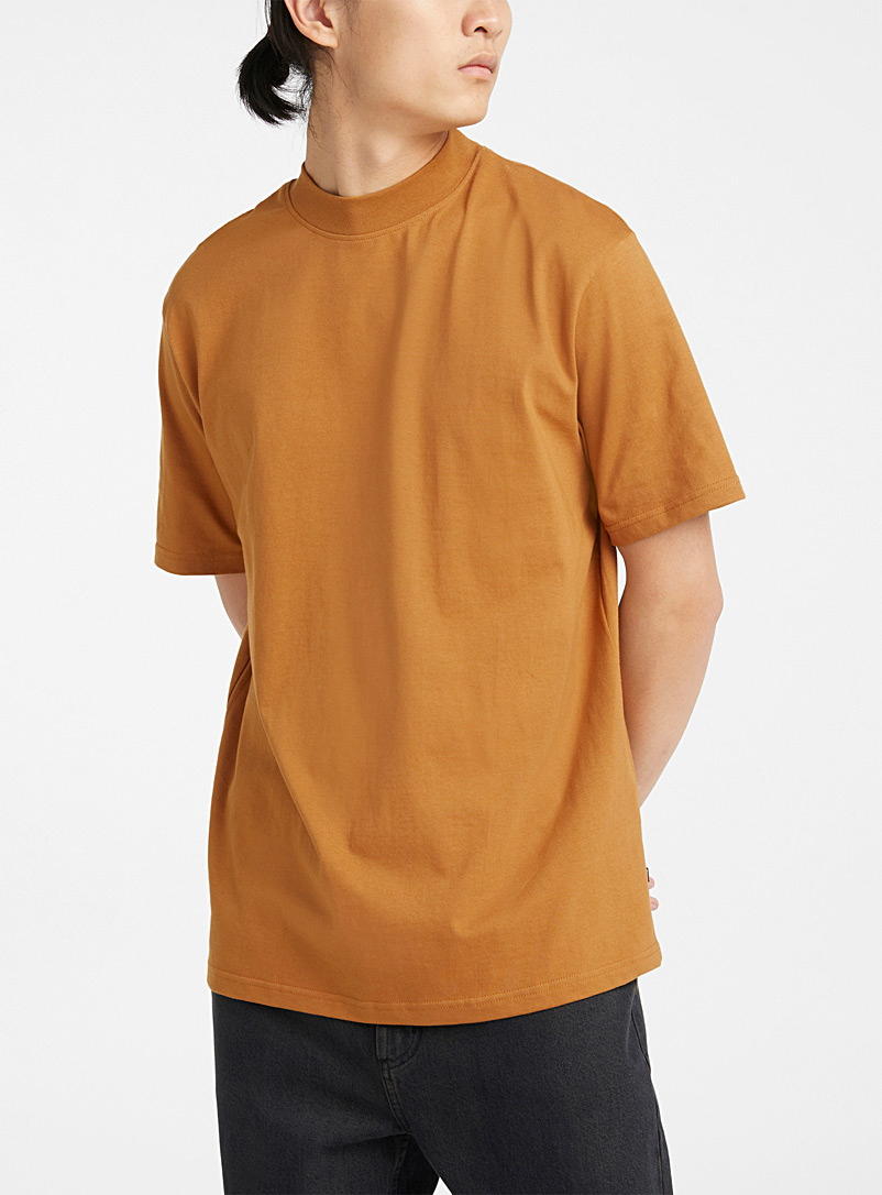 Mock-neck boxy T-shirt
