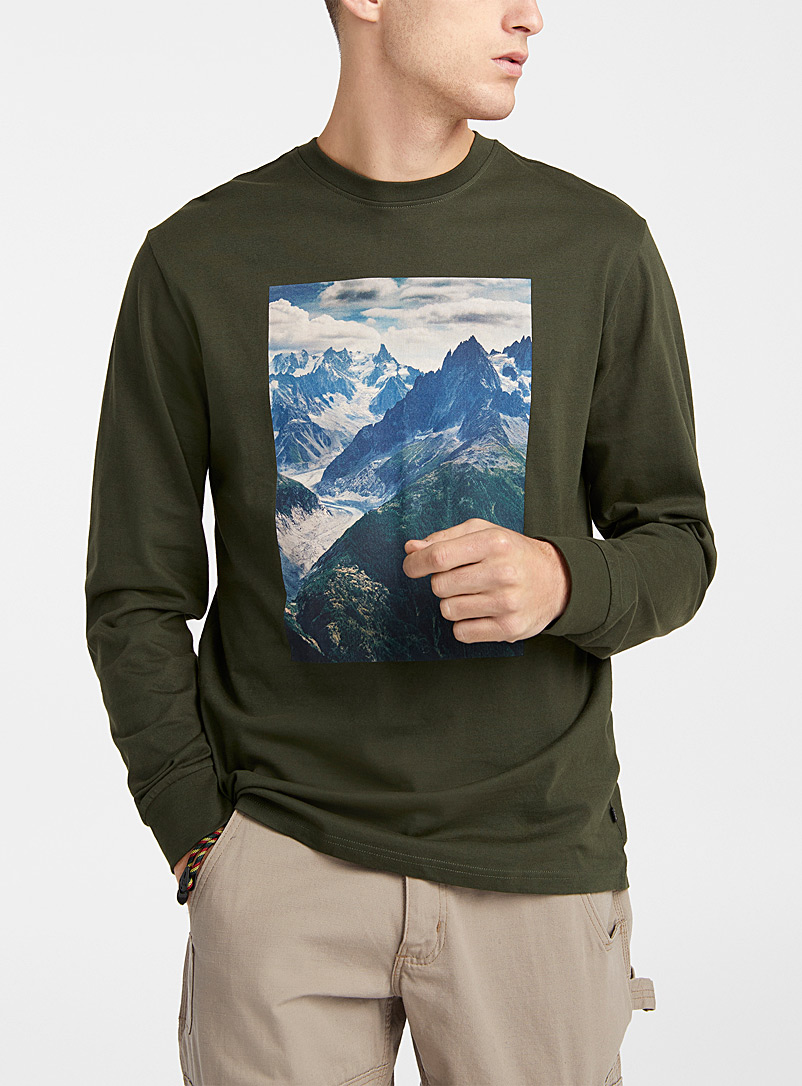 Djab Mossy Green Exploratory mission T-shirt for men