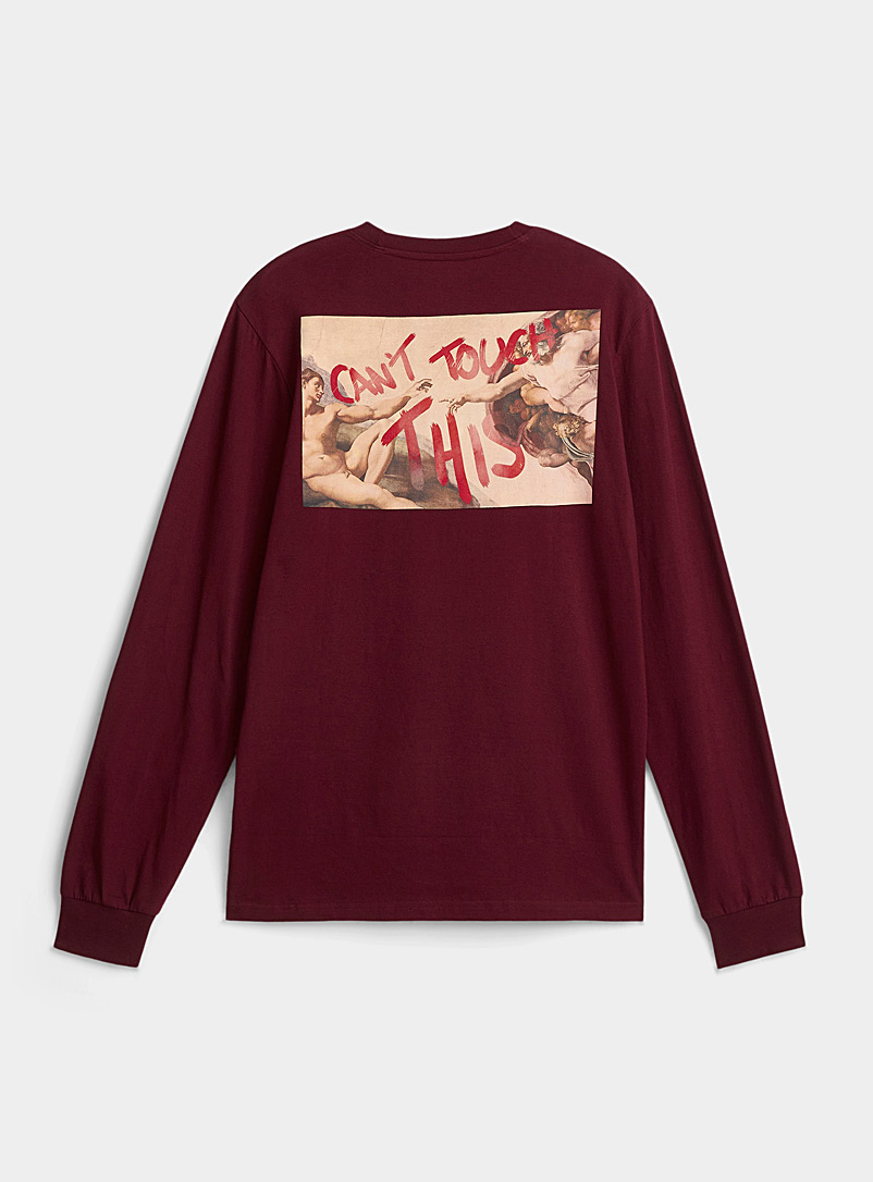 Djab Ruby Red Creative act organic cotton tee for men