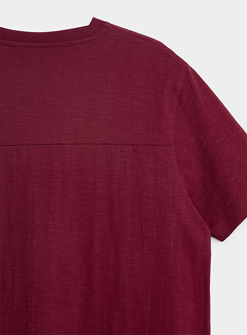 Djab Ruby Red Organic cotton slub T-shirt for men