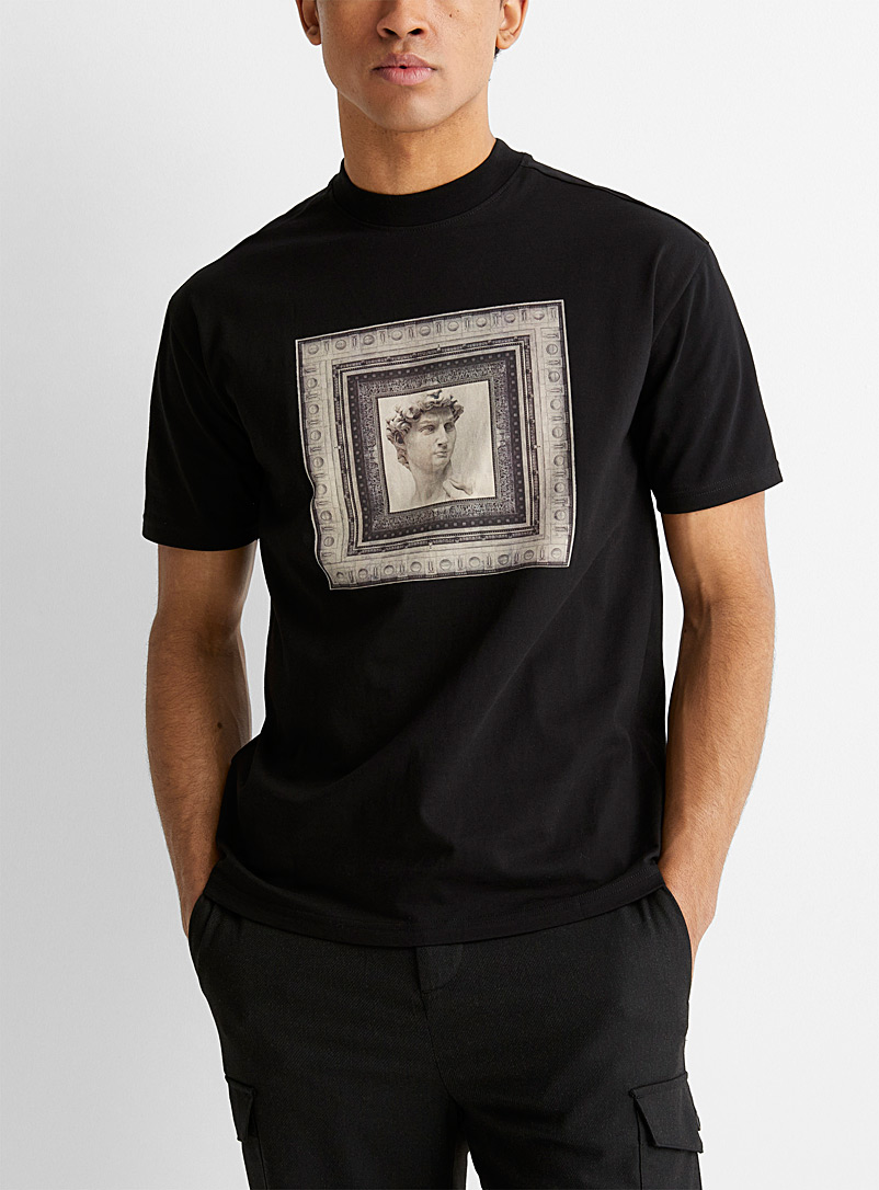 Le 31 Black Artistic scene T-shirt for men