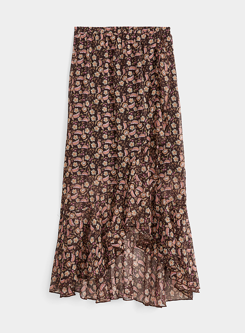 Mini-flower midi skirt