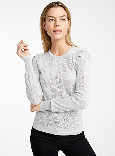 Romantic pointelle sweater