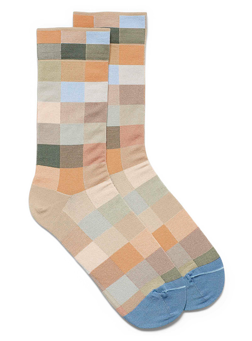 Natural sample check socks