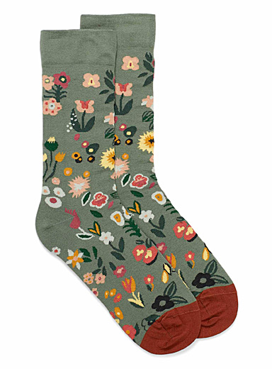 Field of flowers ankle socks