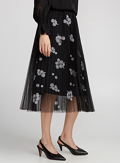 Franci accordion tulle skirt