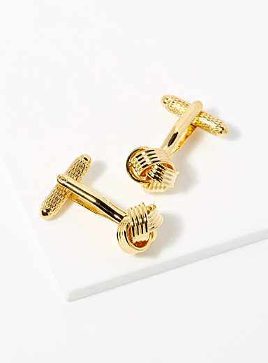 Golden Chinese-knot cufflinks