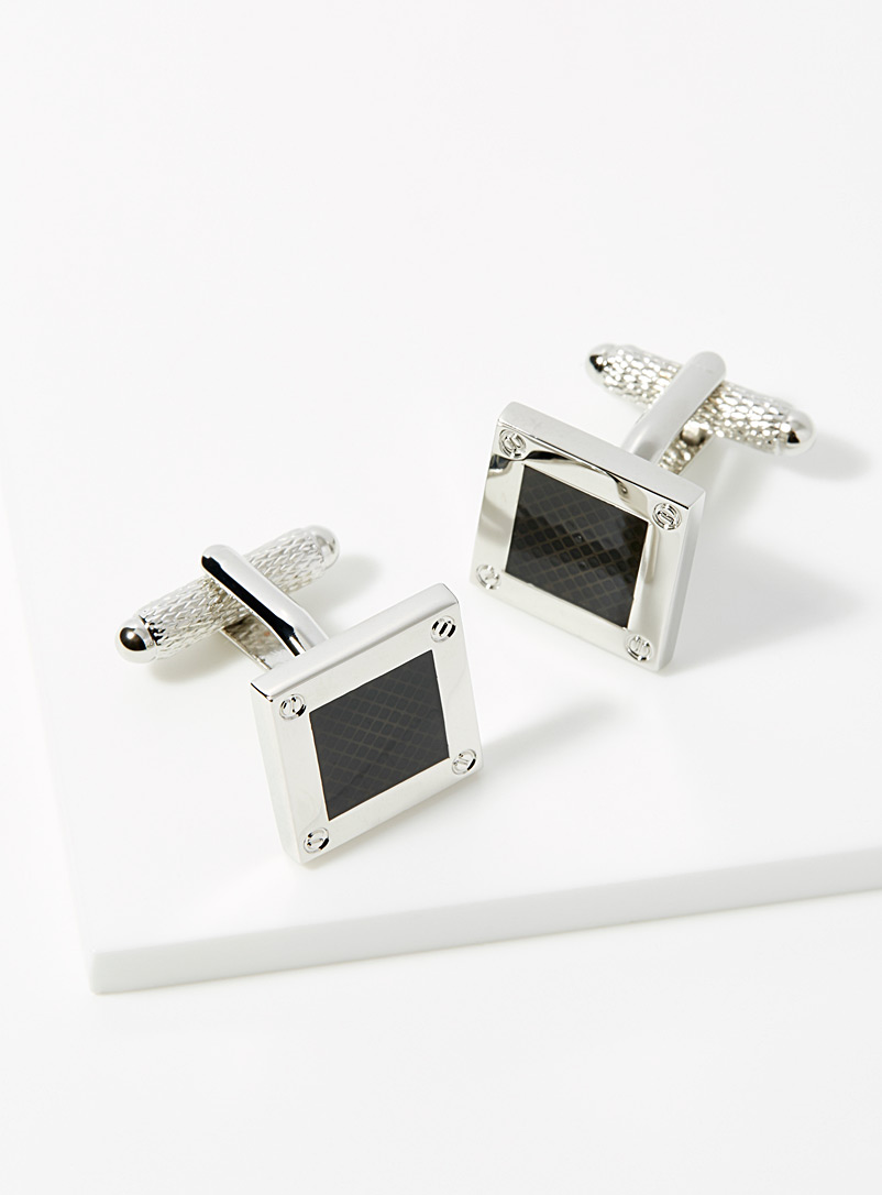 Studded frame cufflinks