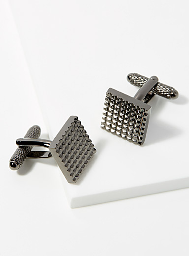 Metalwork cufflinks
