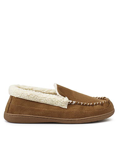 Simons Fawn Moccasin slippers for men