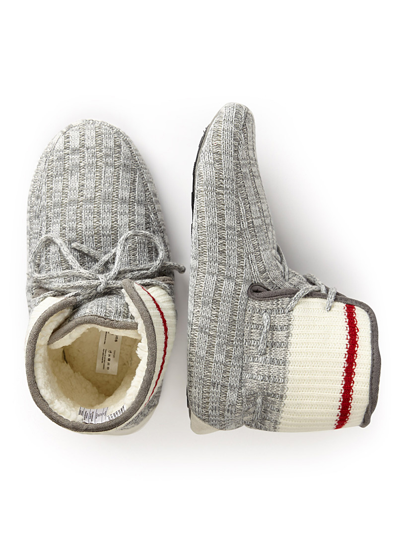 Work sock bootie slippers - Slippers - Light Grey