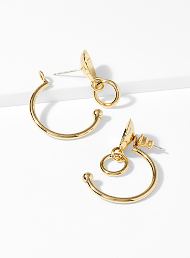 Composition earrings