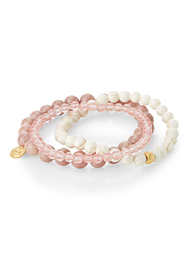 Soft pink bracelets  Set of 3